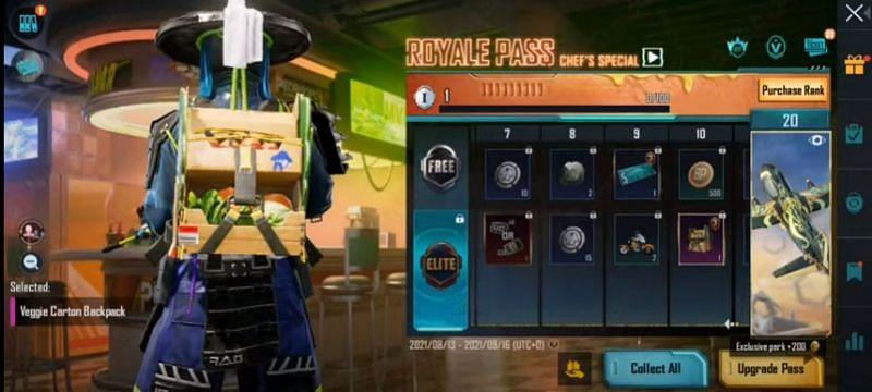 RP rank 10 reward in PUBG Mobile M3 RP (Image via Mad Tamizha YT / YouTube)