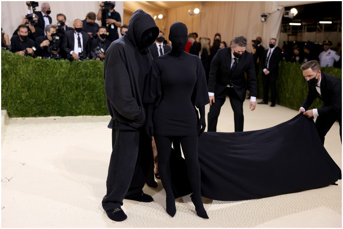 Kim Kardashian West and Demna Gvasalia posing on the red carpet at Met Gala 2021.