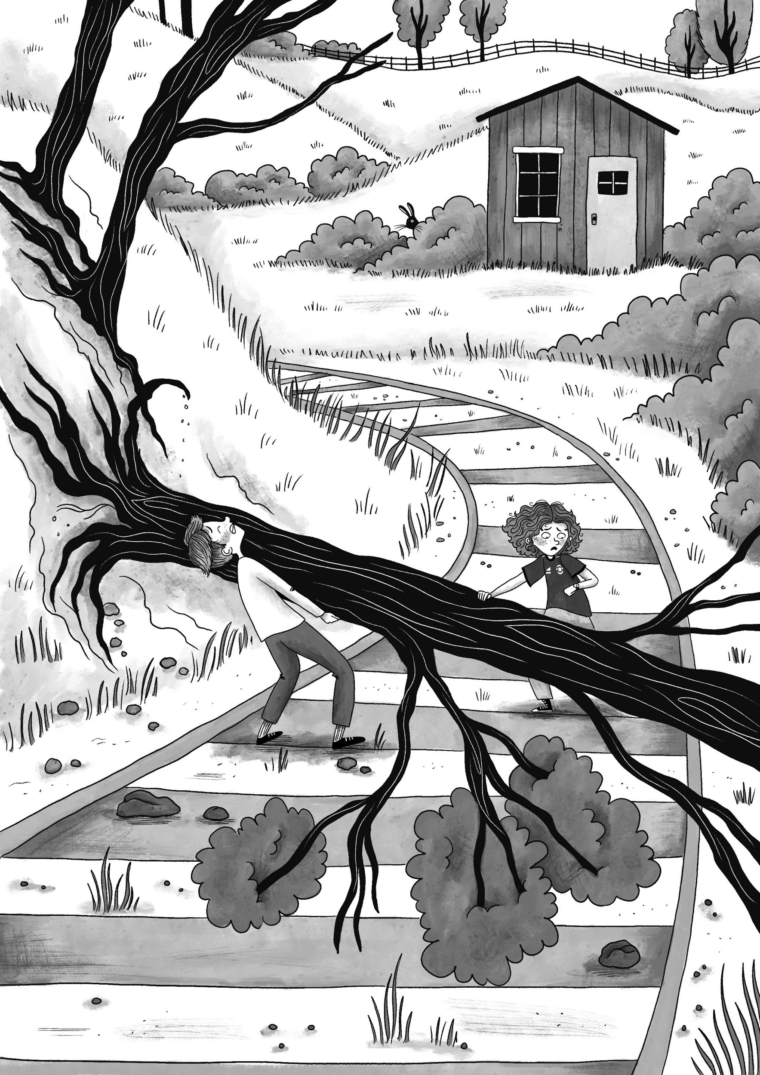 Illustration from The Primrose Railway Children by Jacqueline Wilson Credit: Rachael Dean Provided by naomi.cooper1@ntlworld.com