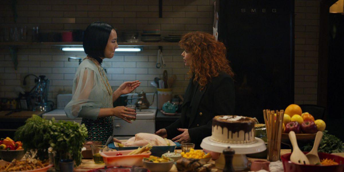 Russian Doll stars Greta Lee and Natasha Lyonne talk in the kitchen