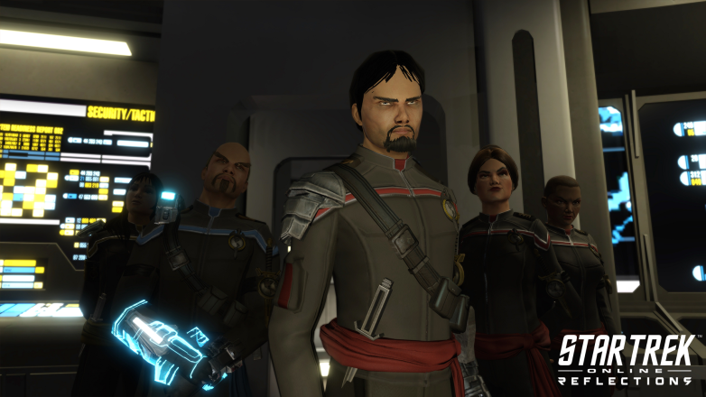 Terran Empire officers on their ship in Star Trek Online: Reflections