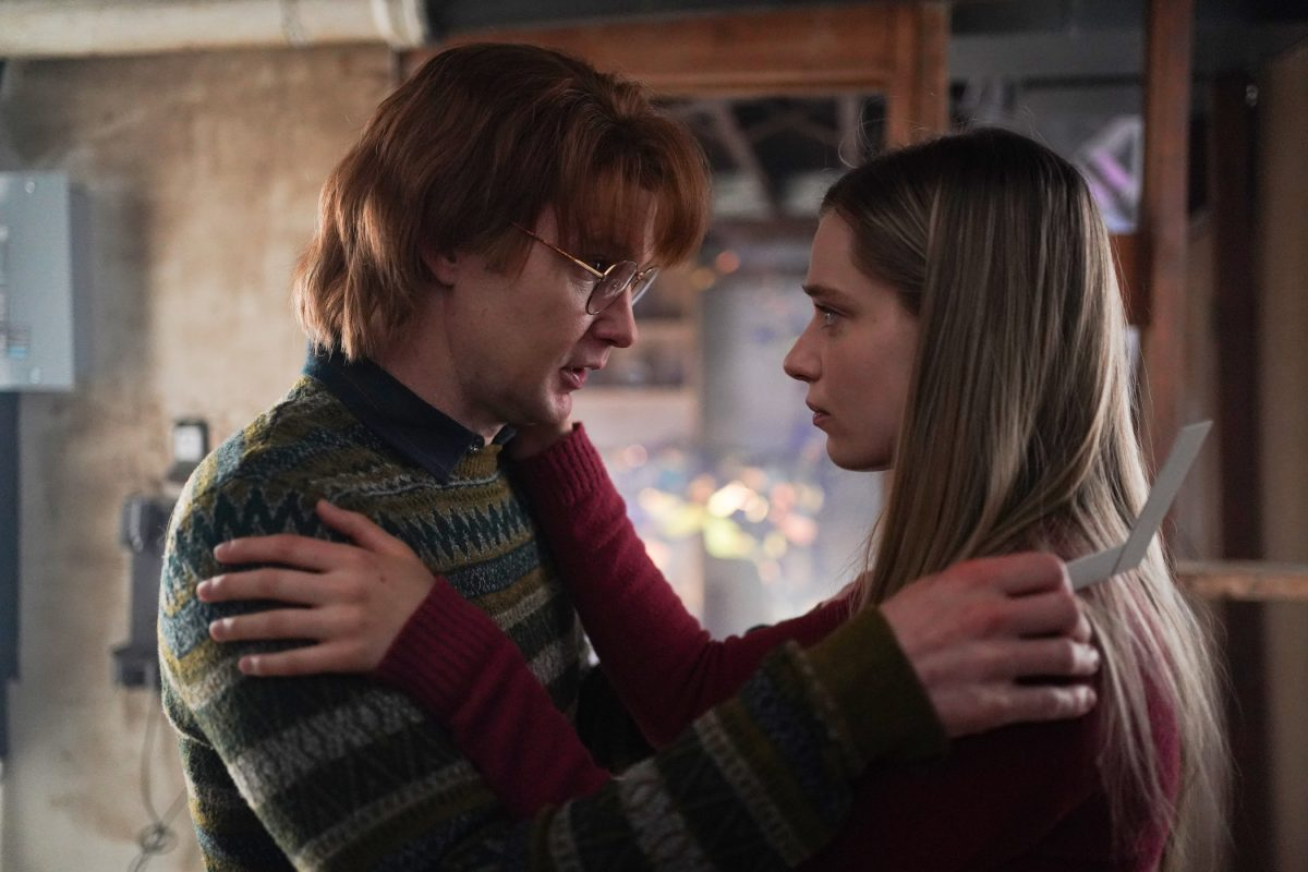 Ronald and Scarlet from 'Big Sky' Season 2 looking at each other and embracing