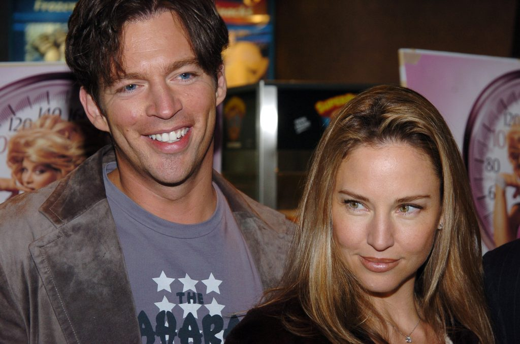 Harry Connick Jr. and Jill Goodacre pose at a movie premiere.