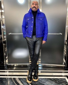 Leather Pants Metallic Suits The Internet Is Losing It Over Steve Harvey's New Wardrobe