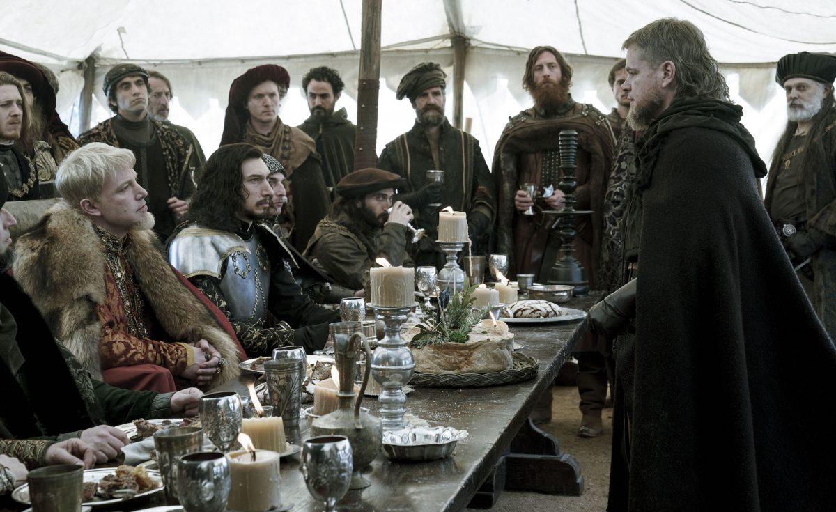 Matt Damon confronts Ben Affleck and Adam Driver at dinner