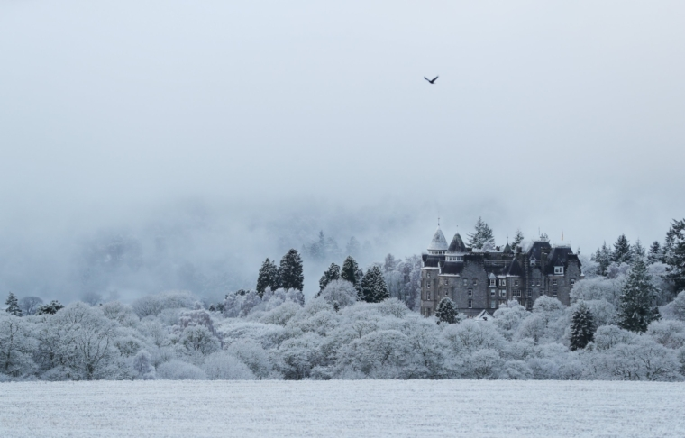 A view of Atholl Palace after snowfall in Pitlochry, Scotland, Britain December 3, 2020. REUTERS/Russell Cheyne