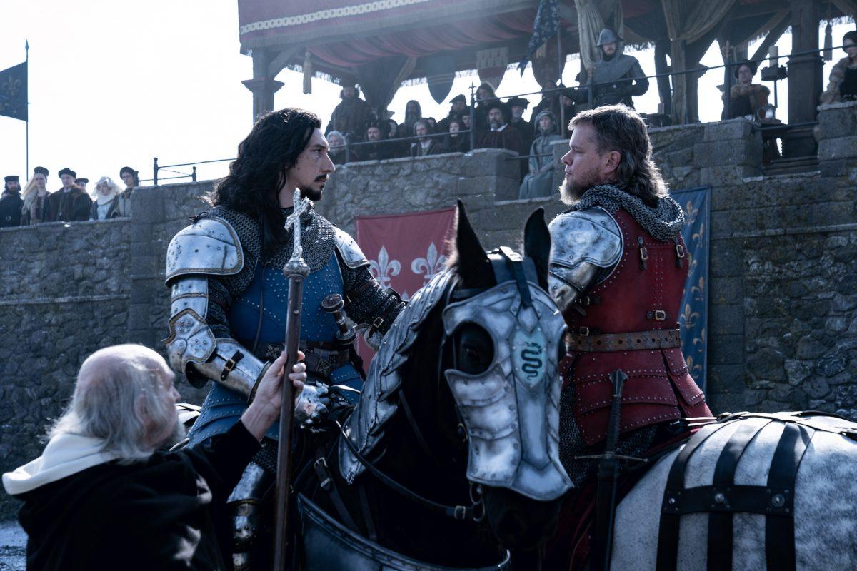 The Last Duel: Adam Driver and Matt Damon face off on horseback