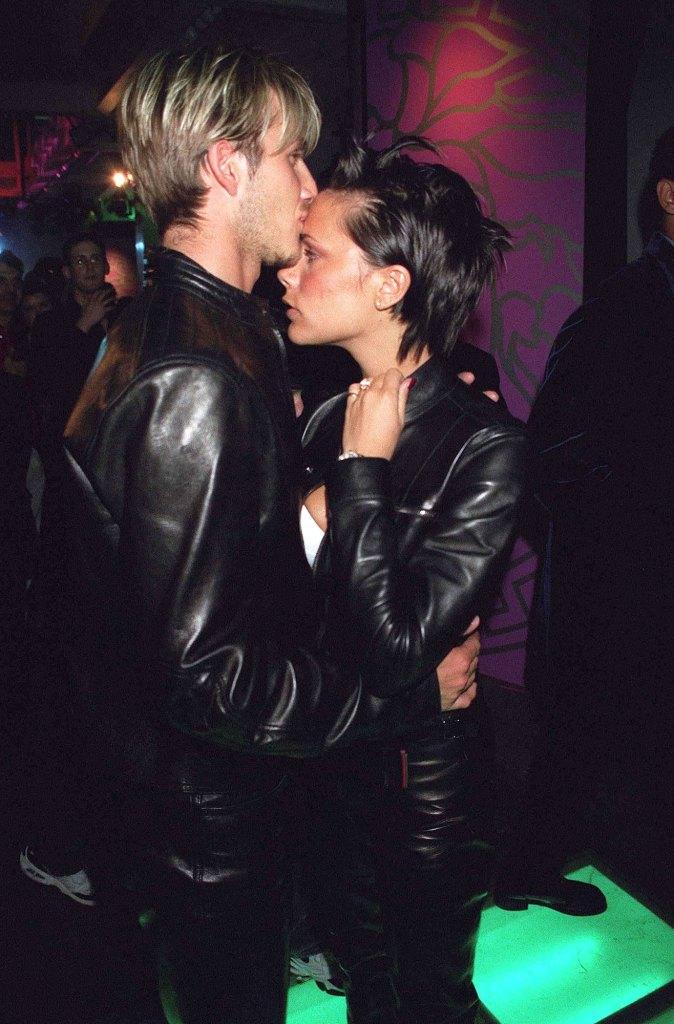 Victoria Beckham David Beckham Coordinated Clothing 1999 All Leather Versace 2