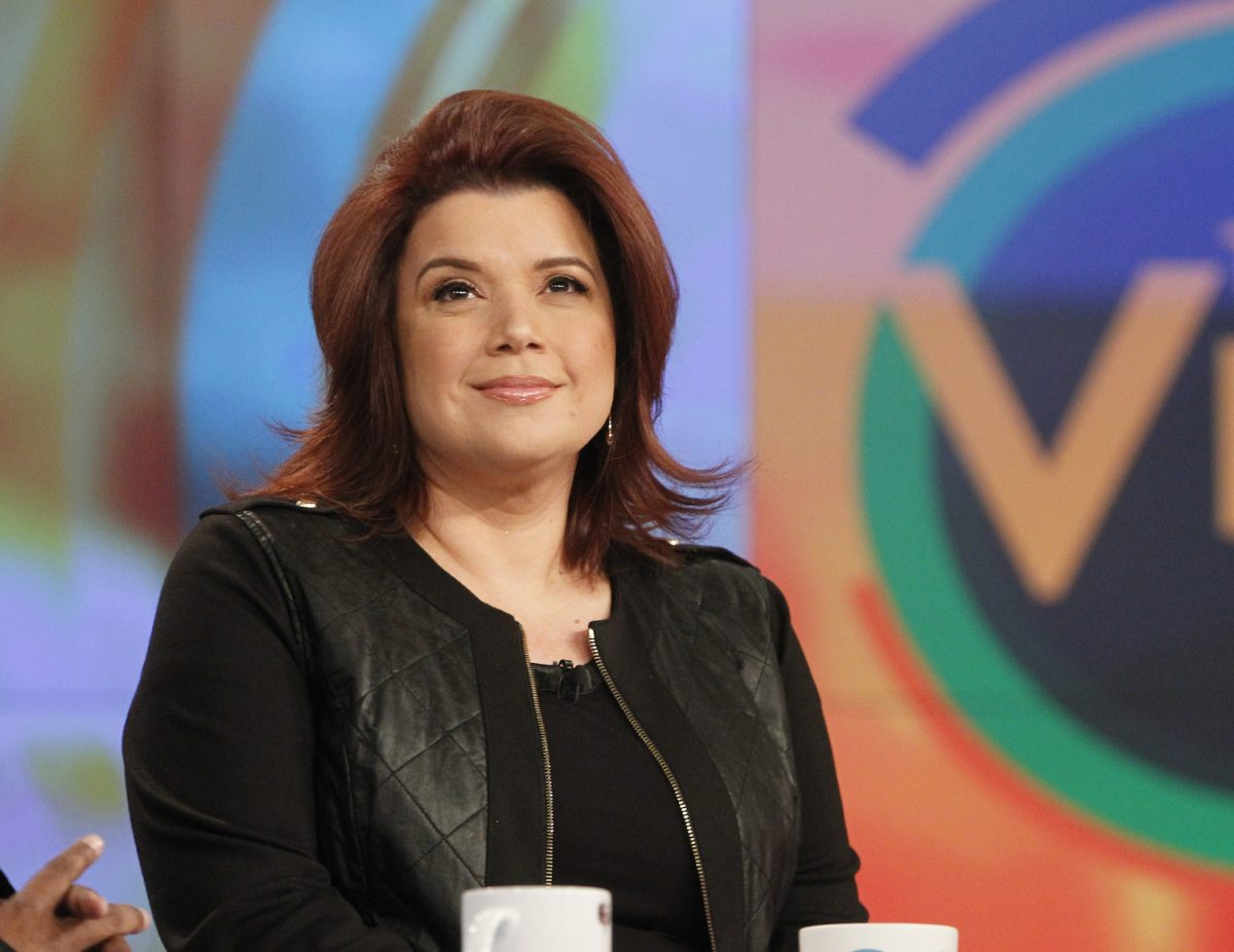 Ana Navarro sitting and observing